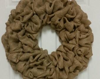 Burlap Wreath, Burlap Base, Autumn Burlap Wreath, Fall Burlap Base, Burlap Everyday Wreath,  Front Door Burlap Wreath, Burlap Home Decor
