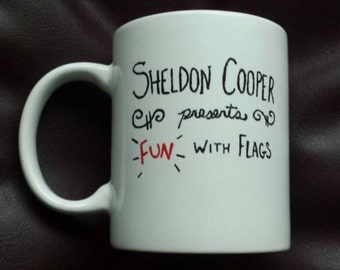 Hand Painted mug inspired by The Big Bang Theory