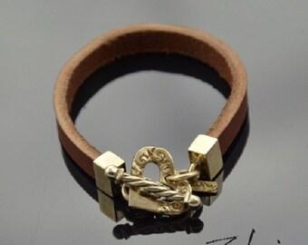 Bracelet Ornamented Heart Bronze