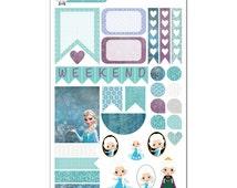 Frozen Weekly Layout Planner Sticker Sampler - Disney Planner Stickers