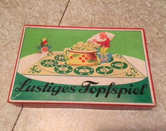 Vintage game Lustiges Topfspiel from Germany. With English instructions