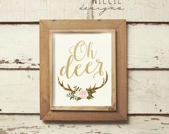 Oh Deer Wall Print | Home Decor