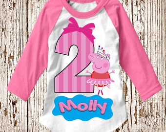 Peppa Pig Birthday Shirt - Peppa Pig Shirt