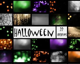 Halloween Overlays, Bokeh Overlays