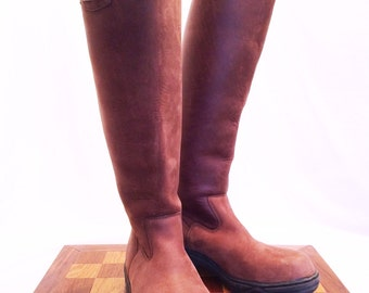 Mountain Horse Ladies High Rider II Boot in Oiled Brown Leather, US Size 10, EXCELLENT Condition