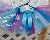 Frozen Elsa tutu skirt, frozen tutu, girls frozen inspired birthday outfit, Anna and Elsa tutu, Anna frozen tutu, queen Elsa tutu