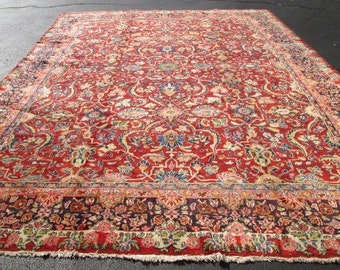 Awesome Antique Persian Mahal Rug.
