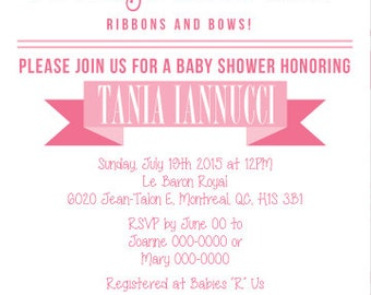 Prints Girls Baby Shower Invitation