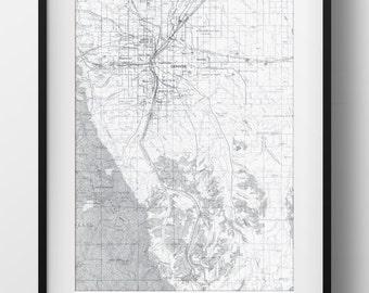 Denver, CO Map Poster 11x17 Digital File