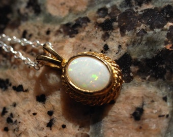 Vintage Opel Cameo Style Pendant, Upcycled, on a new Silver chain.