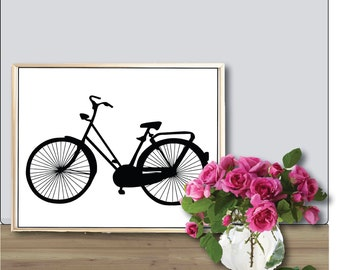 Large Bike Art Printable Poster