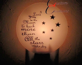 I love you to the Moon, night light