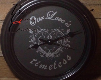 Our Love is timeless, clock