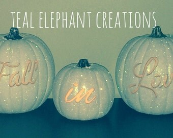 fall in love custom wedding pumpkins *great for weddings or engagement shoots!*