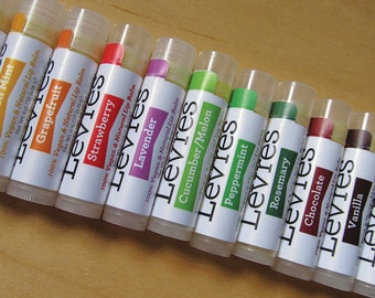 Vegan 3 pack lip balms; Choose your own 3 lip balms