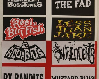 "Punk Rock , Ska Punk ,Rock Music HandMade Band Stickers 2.8""x5.5"" OR 4.2""x4.2""  Buy 2 Get 1 Free (You Can Mix N' Match Listings)"