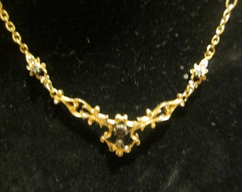 Necklace former solid gold and diamantsGold, jewelery, antique