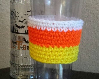 Candy Corn Coffee Cozy