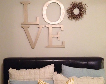 LOVE Wall Hanging Letters