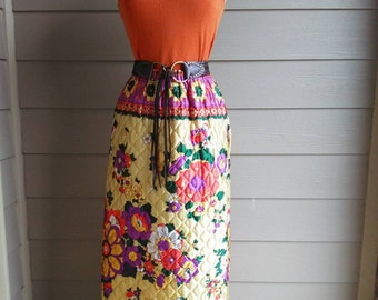 Vintage 70s Quilted Skirt
