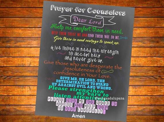 counselor u0026 39 s prayer chalkboard sign poster digital download