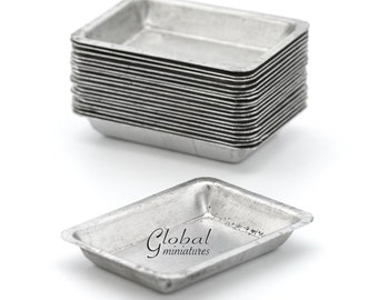 20pc/Set - Dollhouse Miniatures Metal Vegetable Cooking Tray