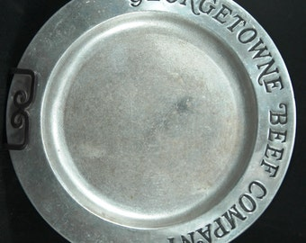 Collectible Armetale Plate Featuring the Georgetowne Beef Company by Wilton Company    01147