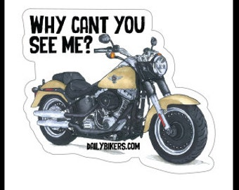 Motorcycle Stickers - Harley Fatboy - High Quality Vinyl Stickers