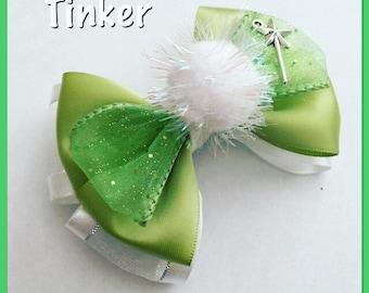 tinker belle hair bow