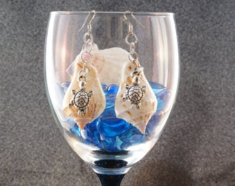 One-of-a-kind Turtle shell earrings- Free Combined Shipping