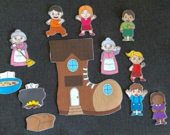 Bundled: 4 Nursery Rhymes Felt Sets// Flannel Board Story Set // Nursery Songs // Teacher Story //