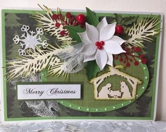Christmas Card / Holiday Card / Winter Card Handmade