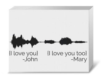 Your Voice Waveform with Saying or Quote Gallery Canvas