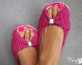 Crochet Slippers Pattern, Princess Slippers, Crochet Slippers, Crochet Ballerina Pattern, Slippers, Adult Size, Instant Download (pdf file)