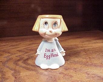 Kreiss I'm An EggHead Ceramic Figure, Egg Holder