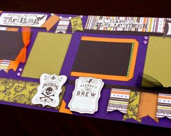 12x12 Premade Scrapbook Page, Halloween Scrapbook Page, Scrapbook Premade Page, 12x12 Halloween Scrapbook Layout, Halloween Scrapbook Page
