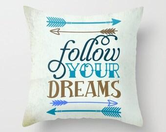 Throw Pillow - Quote Pillow - Decorative Pillow - Inspirational  Pillow , dorm decor , motivational quote , typography art , classroom decor
