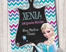 Custom Frozen Princess Printable Binder Insert - BI008