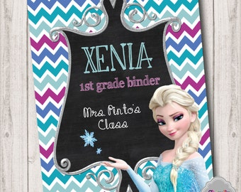 Custom Frozen Princess Printable Binder Insert - BI008
