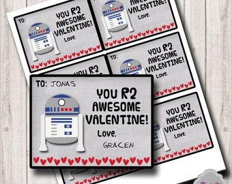 R2D2 Digital Valentine - Val004-R2D2