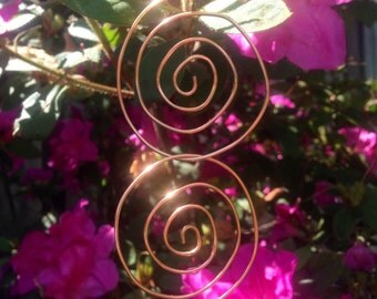 Spiral Out Copper Earrings