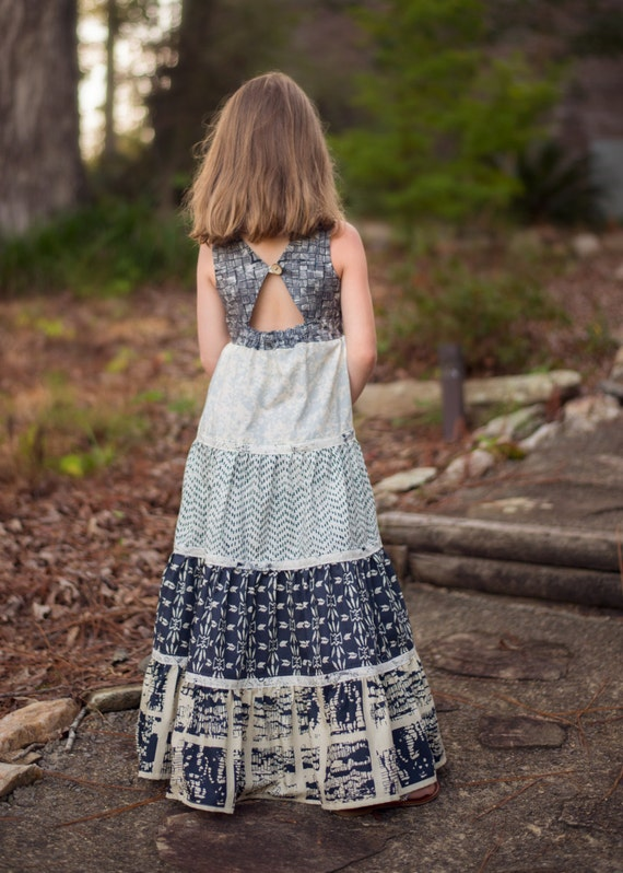 Mia's Tieback Top, Dress & Maxi. PDF sewing pattern for toddler girl sizes 2t - 12.