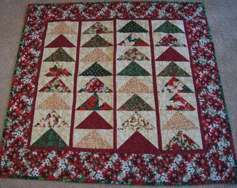 Flying Geese Design – LAP QUILT – Christmas Colors