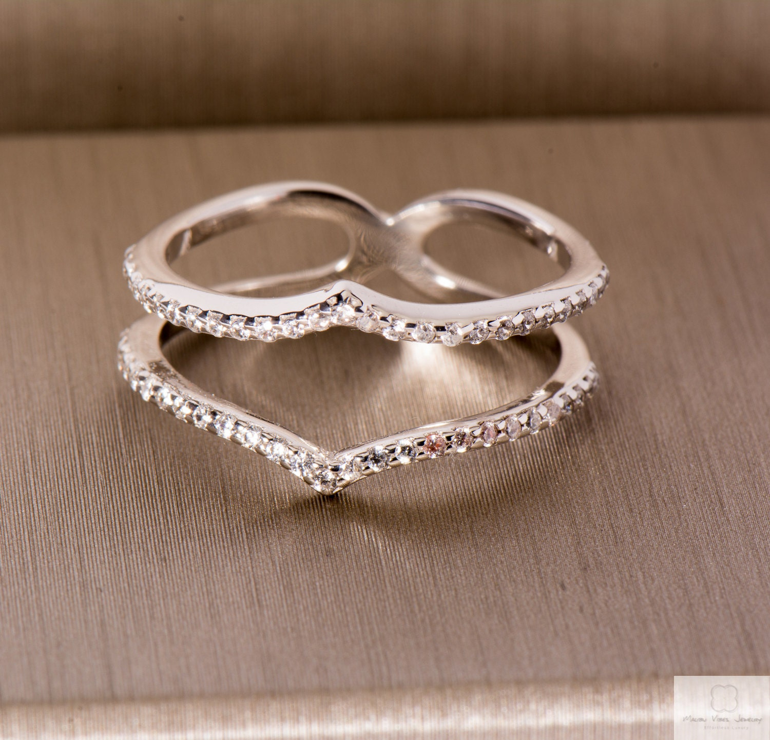 white gold ring guard sterling silver 925 by