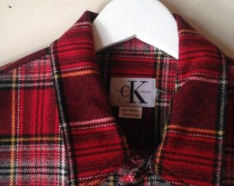 Vintage Calvin Klein cropped plaid jacket