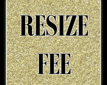 Resize Fee for Invitation and Thank You Cards