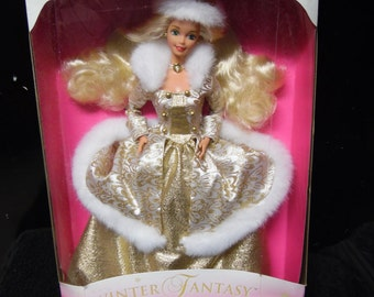 Mattel Winter Fantasy Special Edition Barbie Doll Blonde Hair