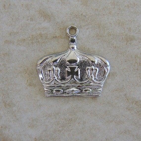 royal queen king crown vintage sterling silber armband charm. Black Bedroom Furniture Sets. Home Design Ideas