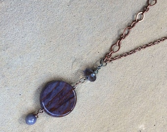 Jasper, Iolite and Tanzanite Necklace-Grounded Vision