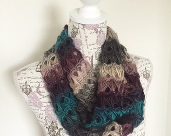 Broomstick Lace Infinity Scarf, Infinity Scarf, Women's Infinity Scarf, Women's Cowl, made to order